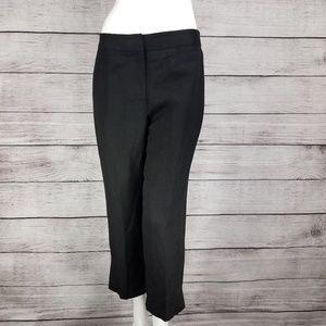 Ann Taylor LOFT Laura sz 6 Capri Pants Linen Black
